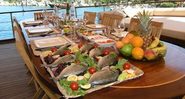 Culinary experience on Turkey charter gulet